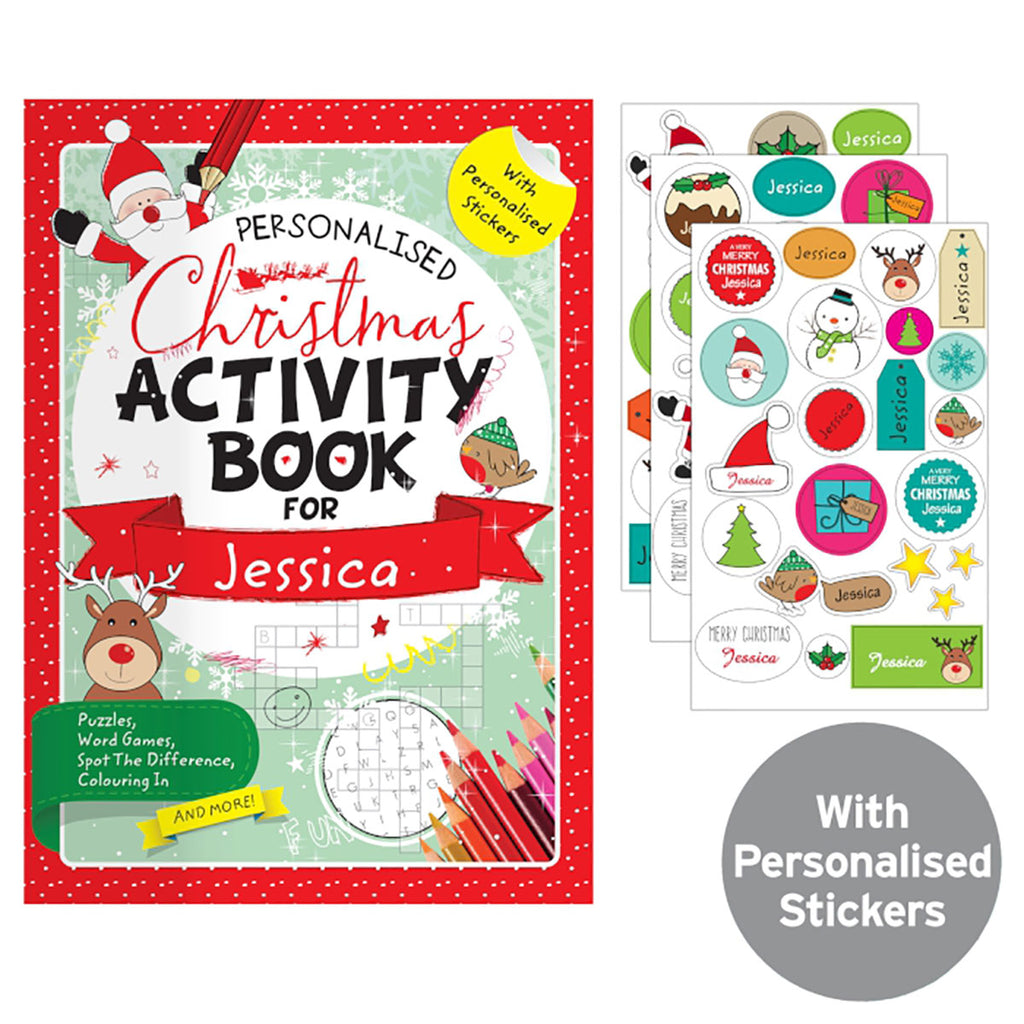 Personalised Christmas Activity Book Display - Oh My Gift