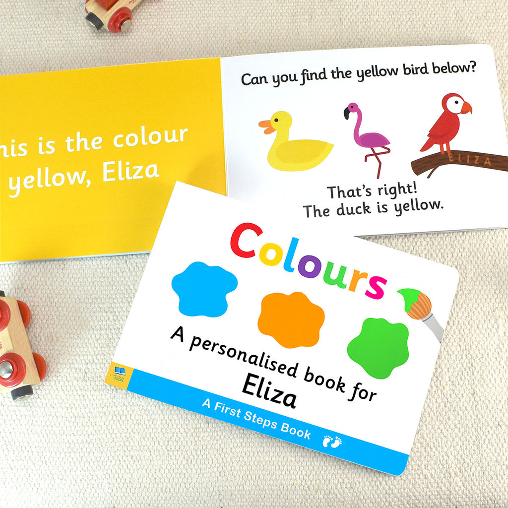 Personalised First Steps Colours Board Book - Oh My Gift