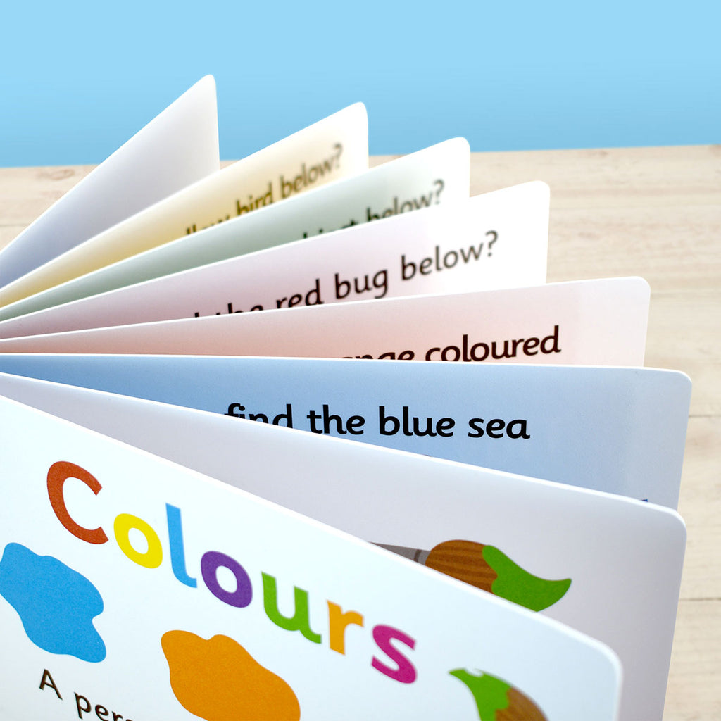 Personalised First Steps Colours Board Book Close Up - Oh My Gift
