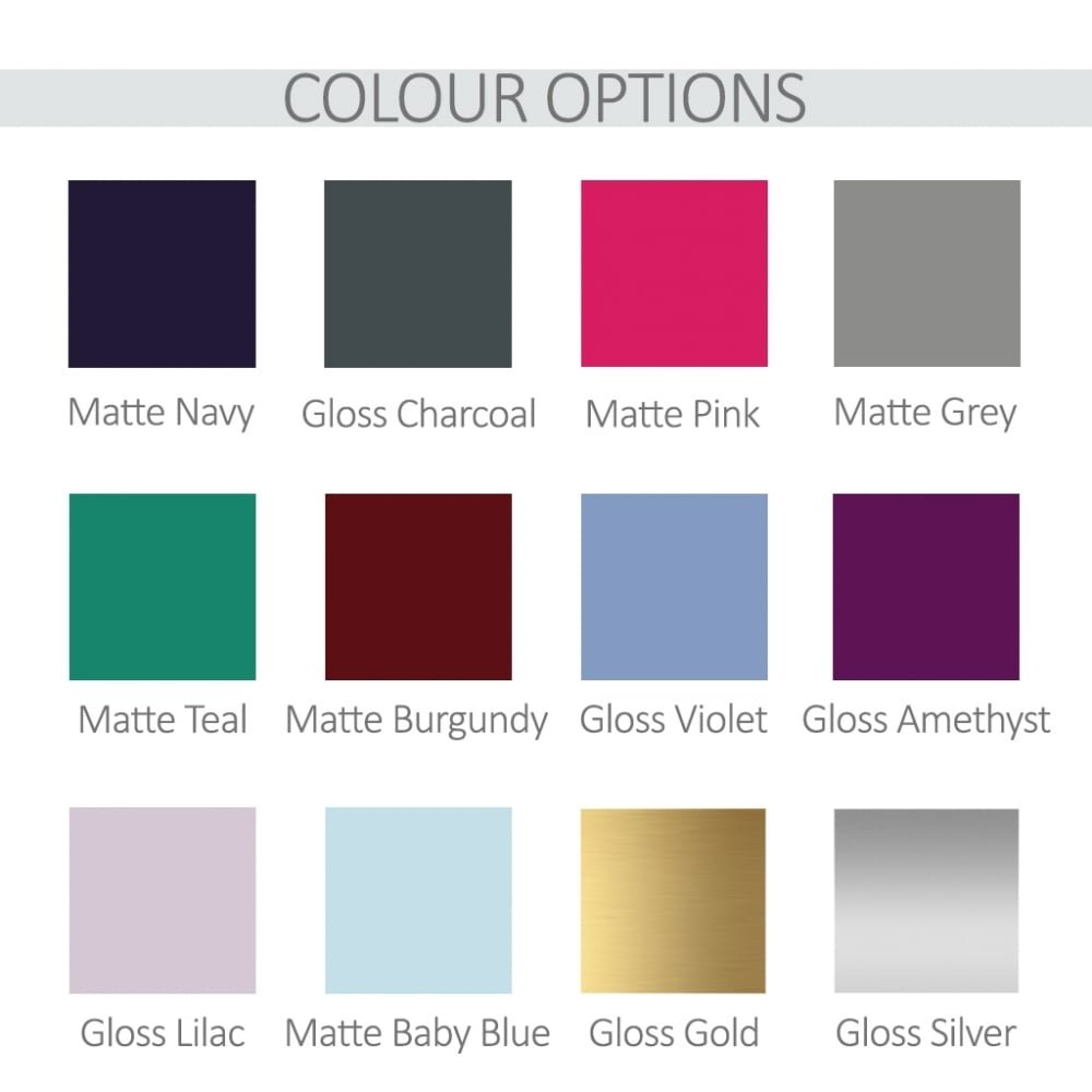 Personalised Cake Tin Colour Chart - Oh My Gift