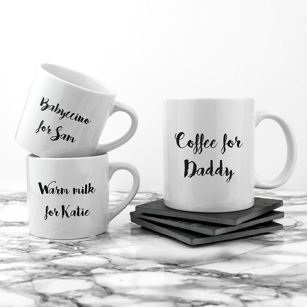 Personalised Daddy & Me Coffee and Catch Up Mugs set of 3 - Oh My Gift
