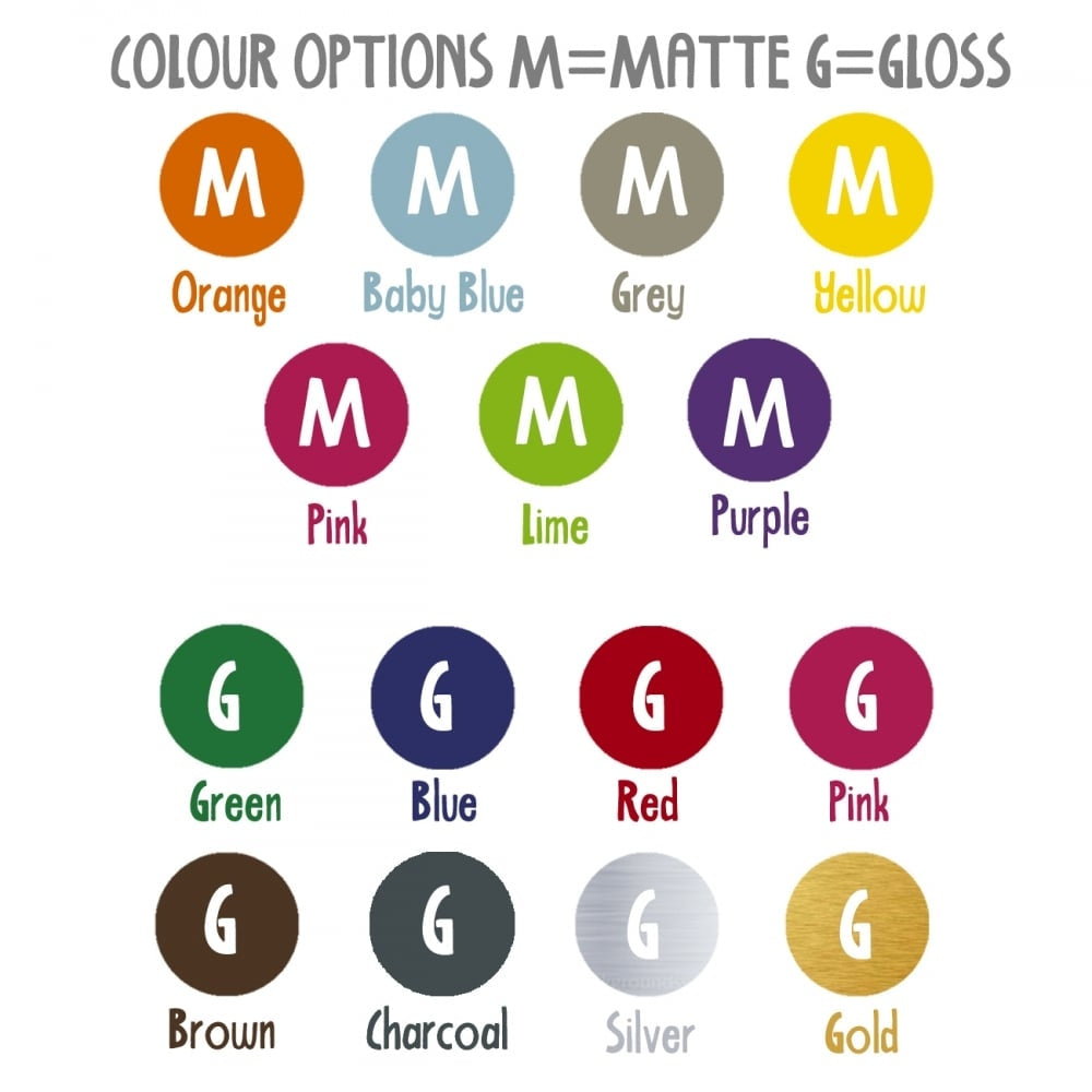 Personalised direction sign colour palette - Oh My Gift