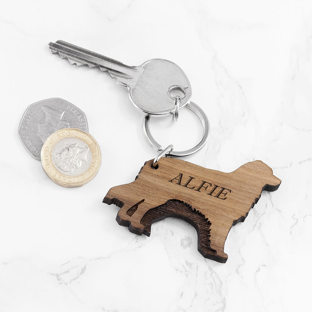 Personalised Dog Keyring - Various Breeds!