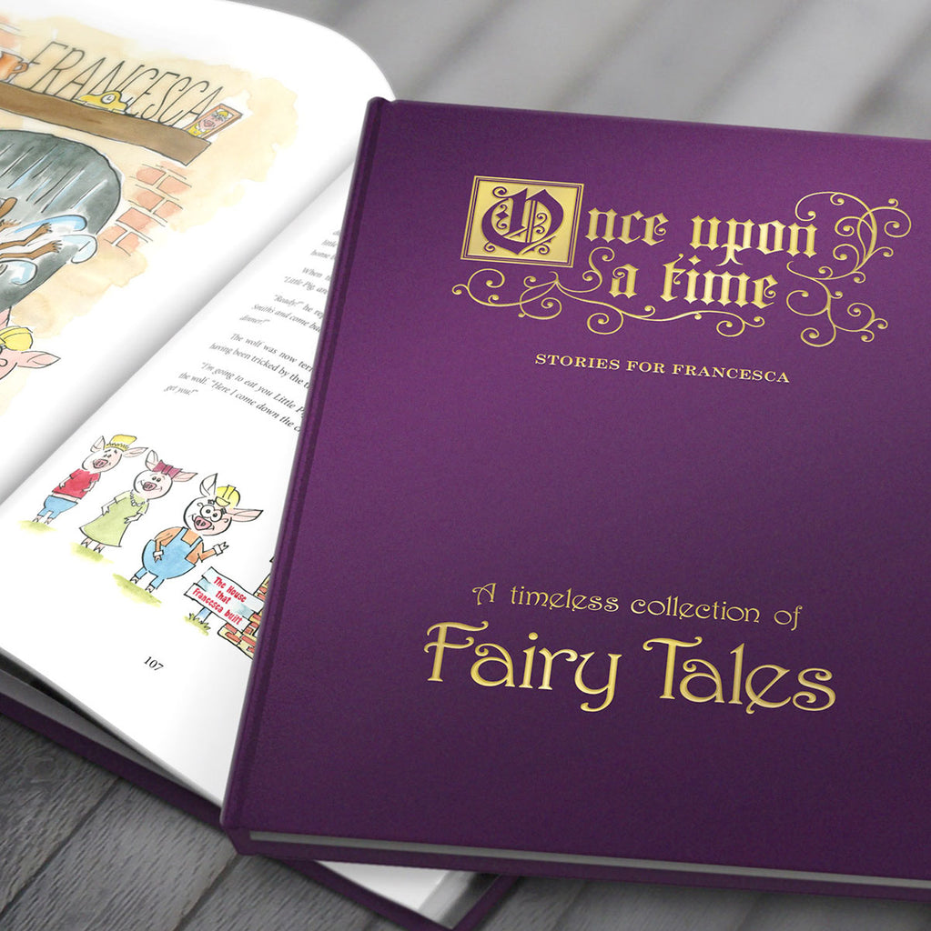 Personalised Fairy Tales Book on Display - Oh My Gift