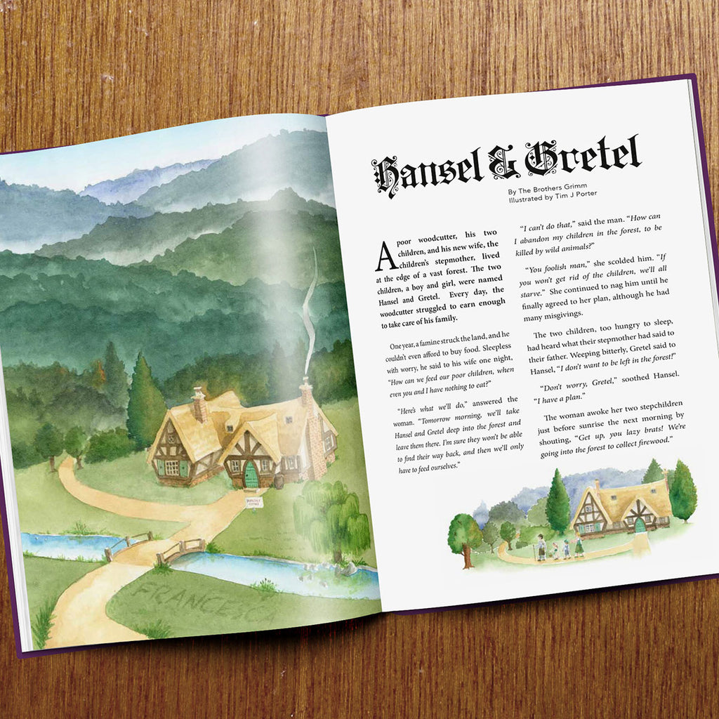 Personalised Fairy Tales Book with Page Open - Oh My Gift