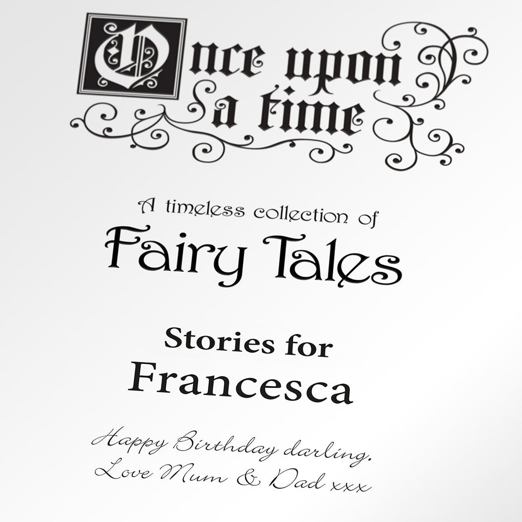 Personalised Fairy Tales Book Showing Opening Page - Oh My Gift