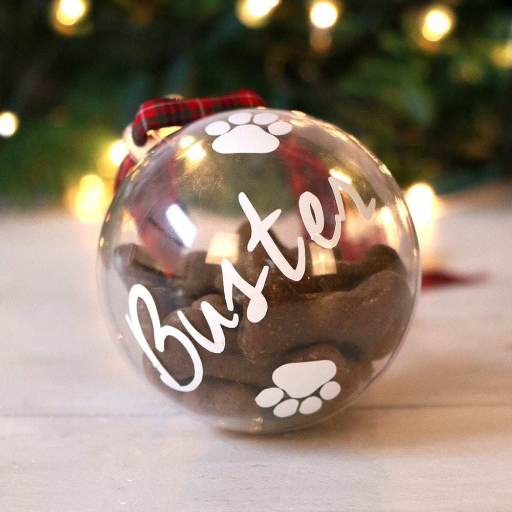 Personalised Fillable Pet Treat Bauble - Oh My Gift