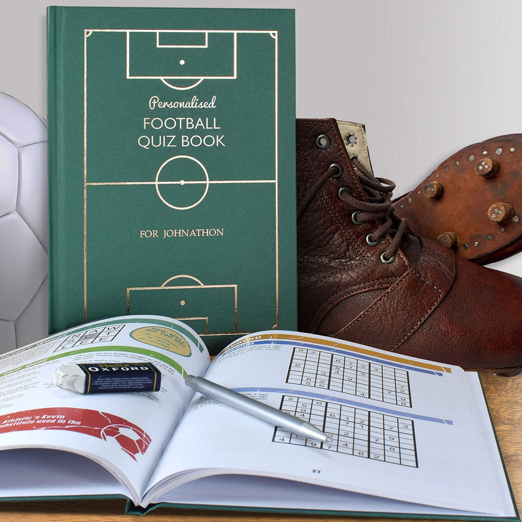 Football Quiz Book Personalised with Name - Oh My Gift