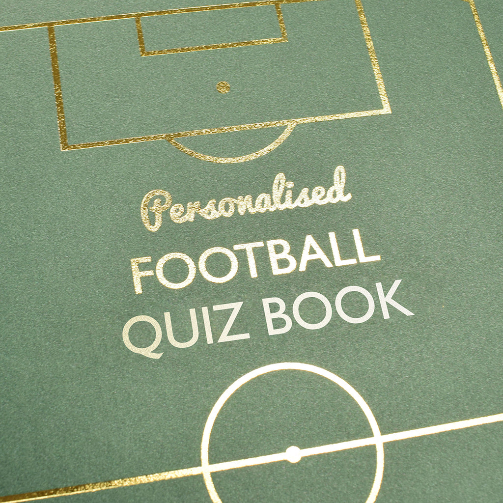 Football Quiz Book Personalised with Name Showing Front Cover - Oh My Gift