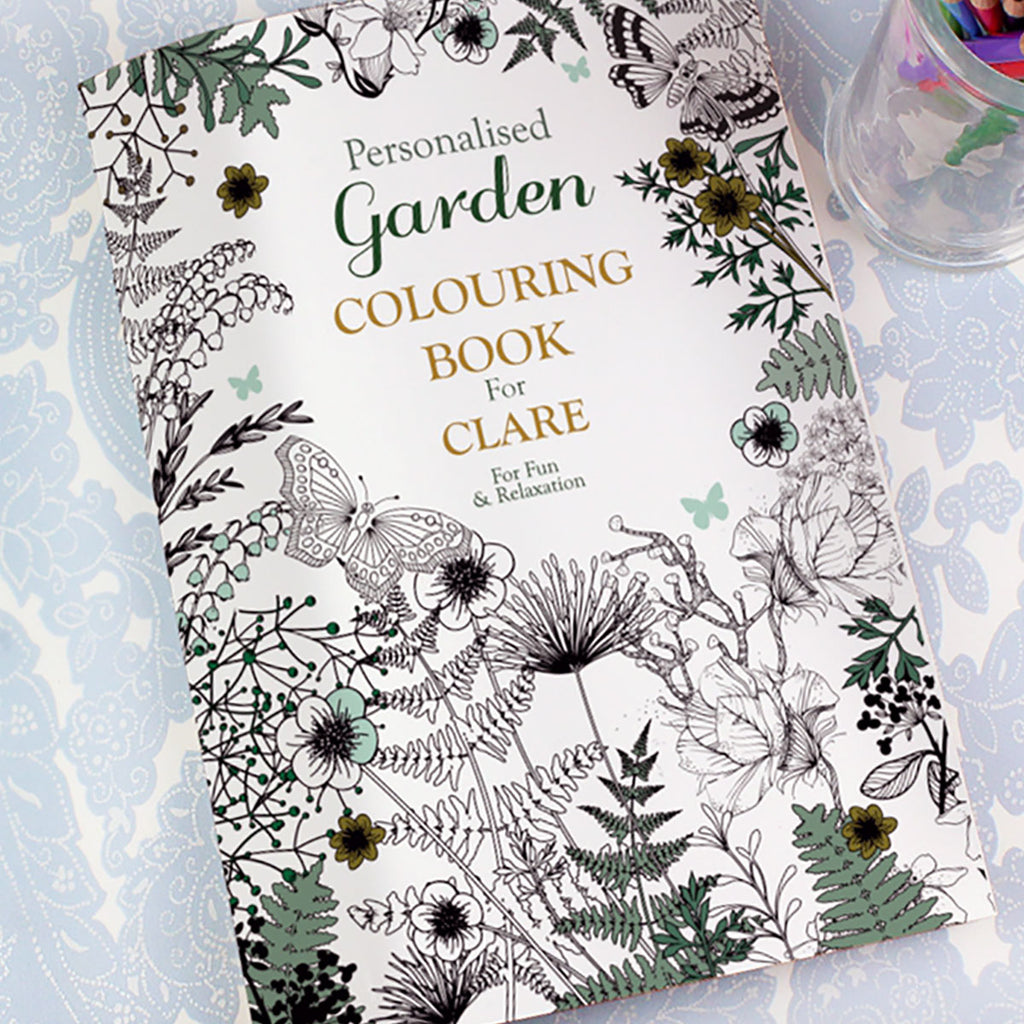 Personalised Gardening Colouring Book - Oh My Gift