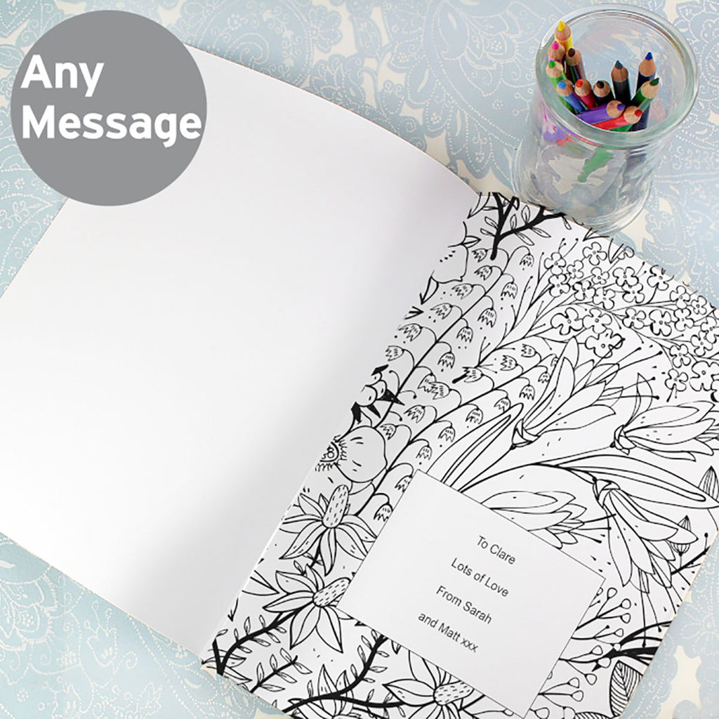 Gardening Colouring Book with personal message inside - Oh My Gift