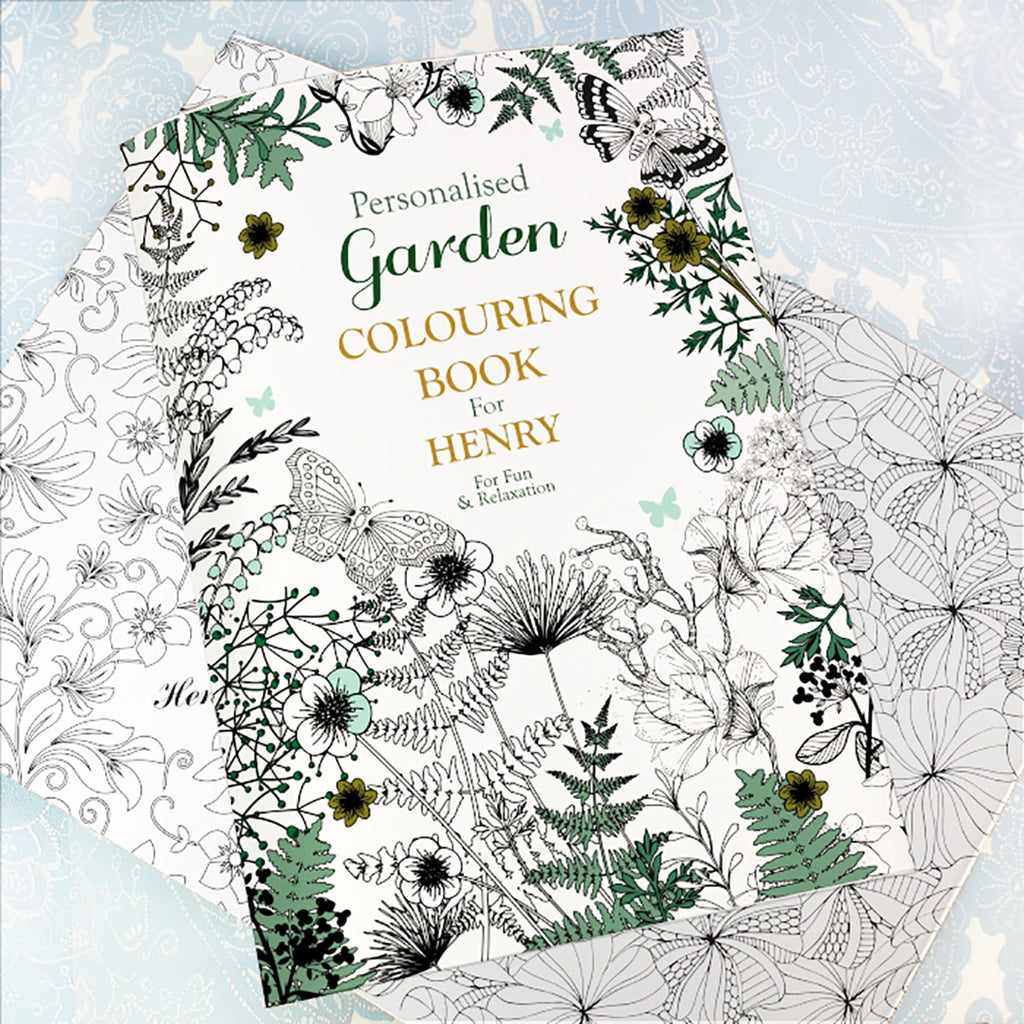 Personalised with your name Gardening Colouring Book - Oh My Gift
