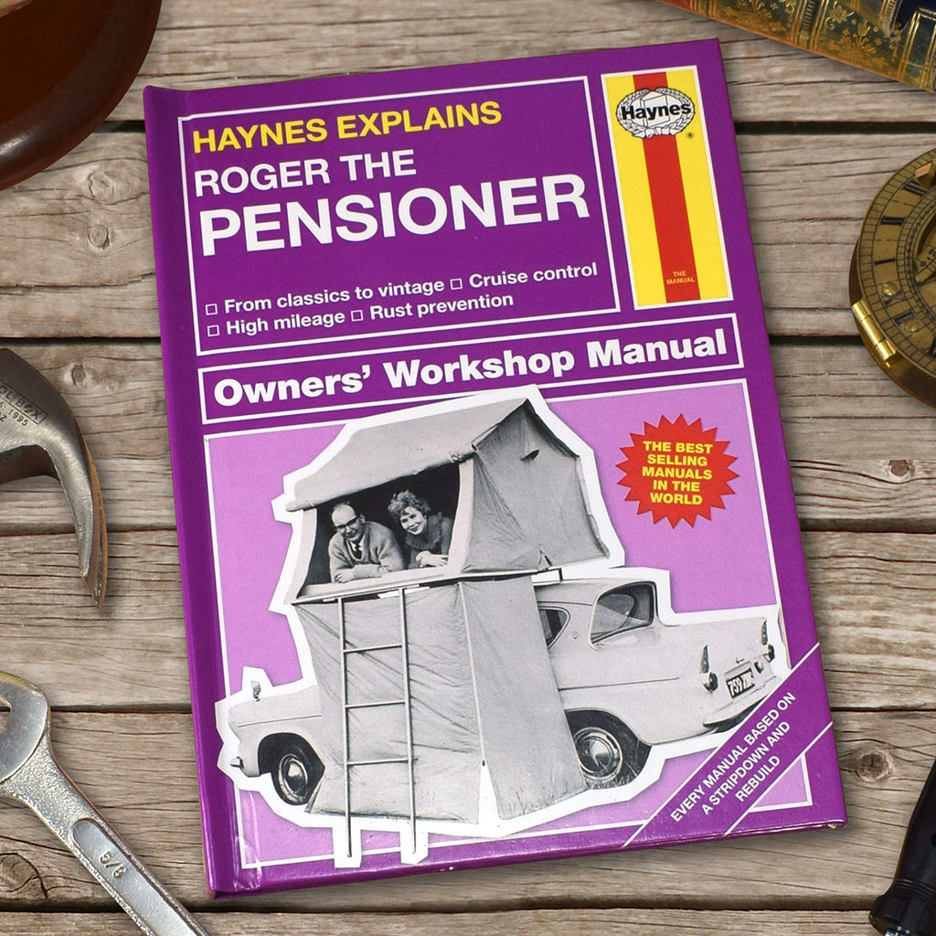 Haynes Explains Pensioners Manual Personalised with Name - Oh My Gift