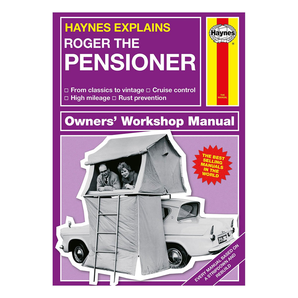 Haynes Explains Pensioners Manual Personalised with Name Front Cover - Oh My Gift