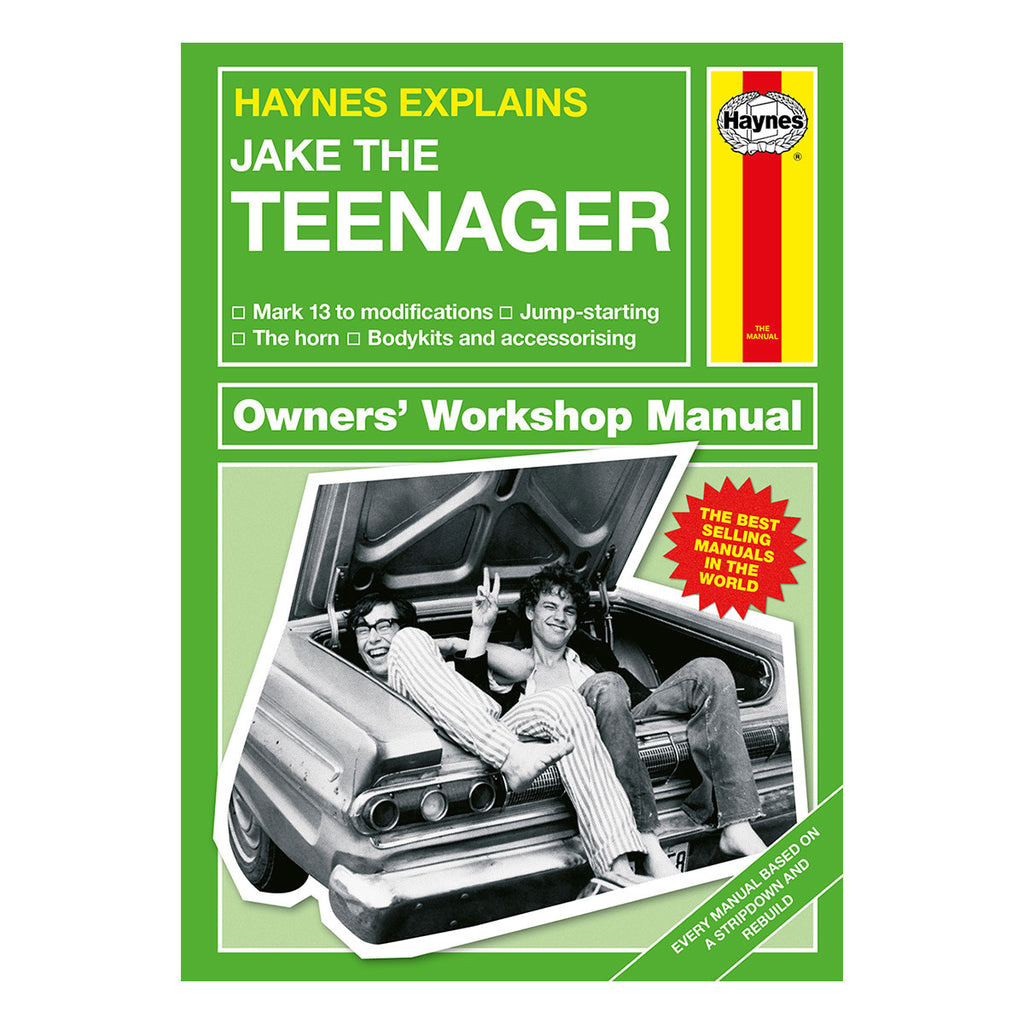 Haynes Explains Teenager Manual Personalised with Name Front Cover - Oh My Gift