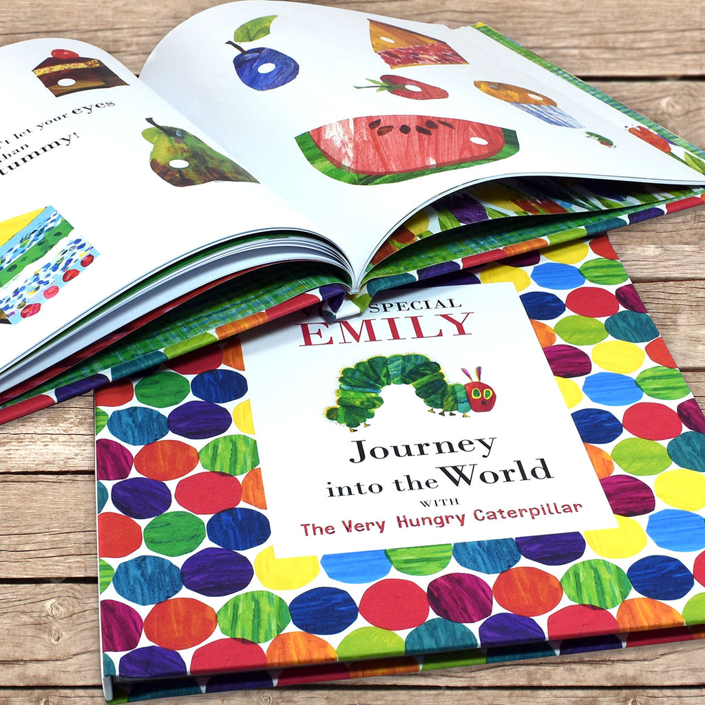 Personalised Very Hungry Caterpillar Book Showing Story - Oh My Gift