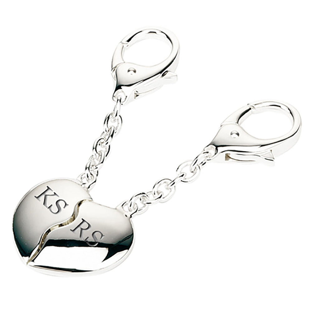 Personalised Joining Hearts Keyrings - Oh My Gift