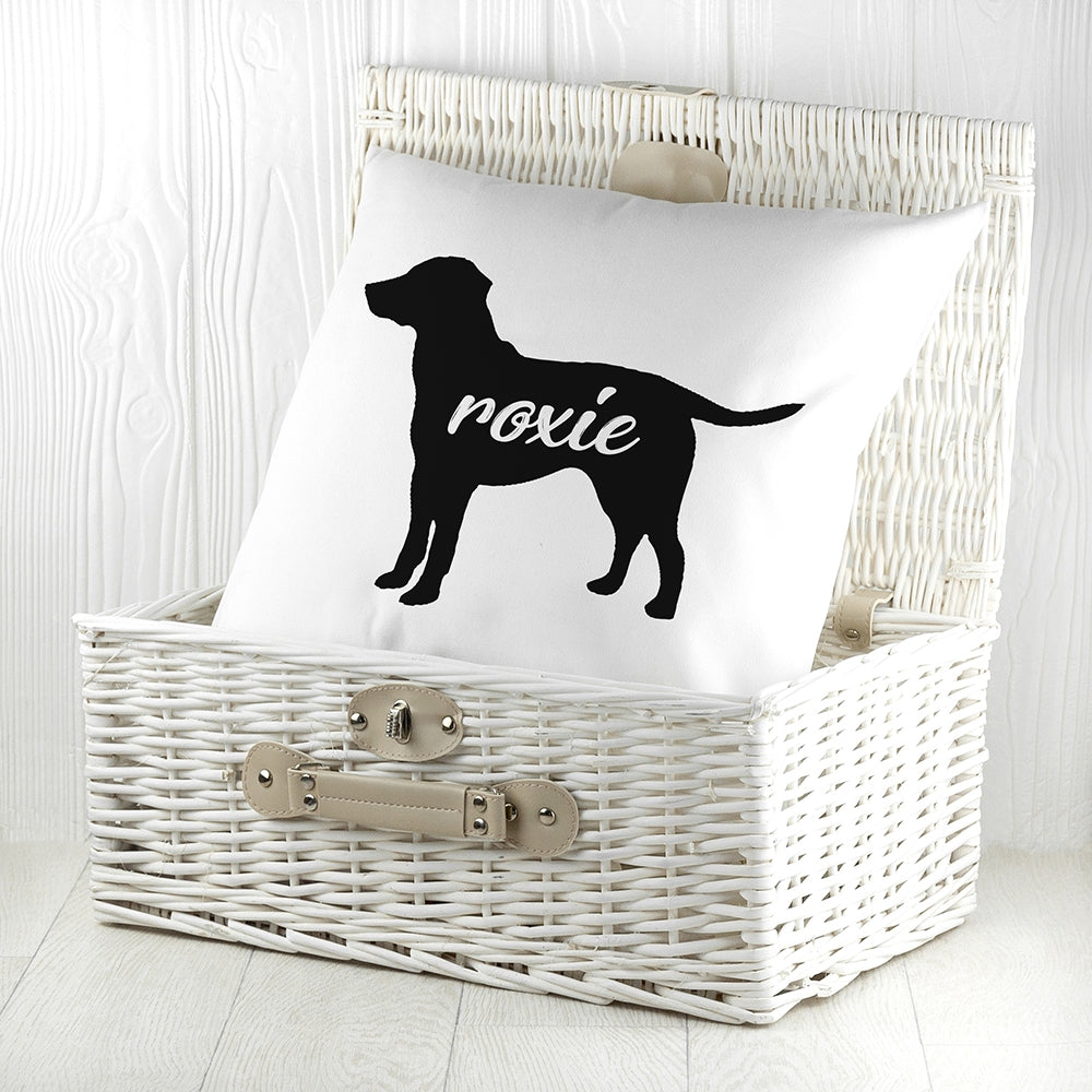 Personalised Labrador Silhouette Cushion Cover - Oh My Gift