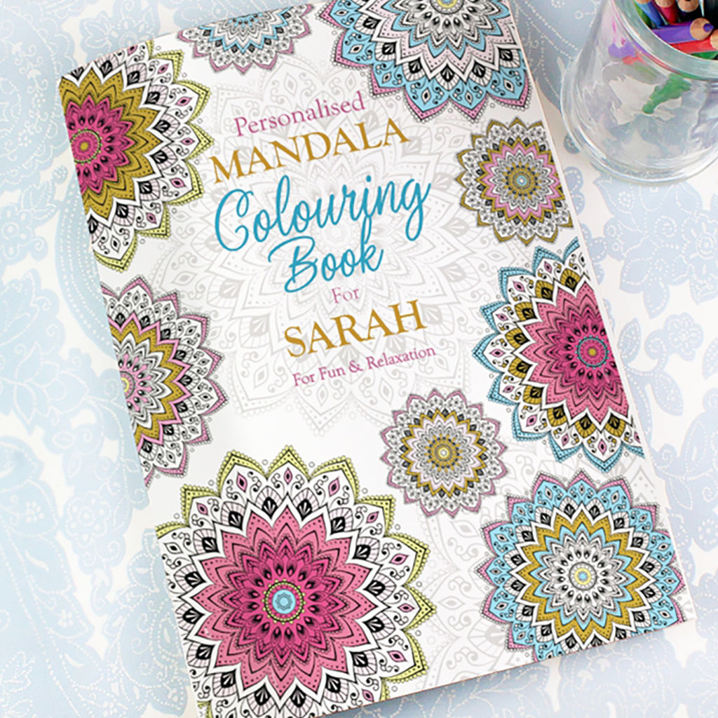 Personalised Mandala Colouring Book - Oh My Gift