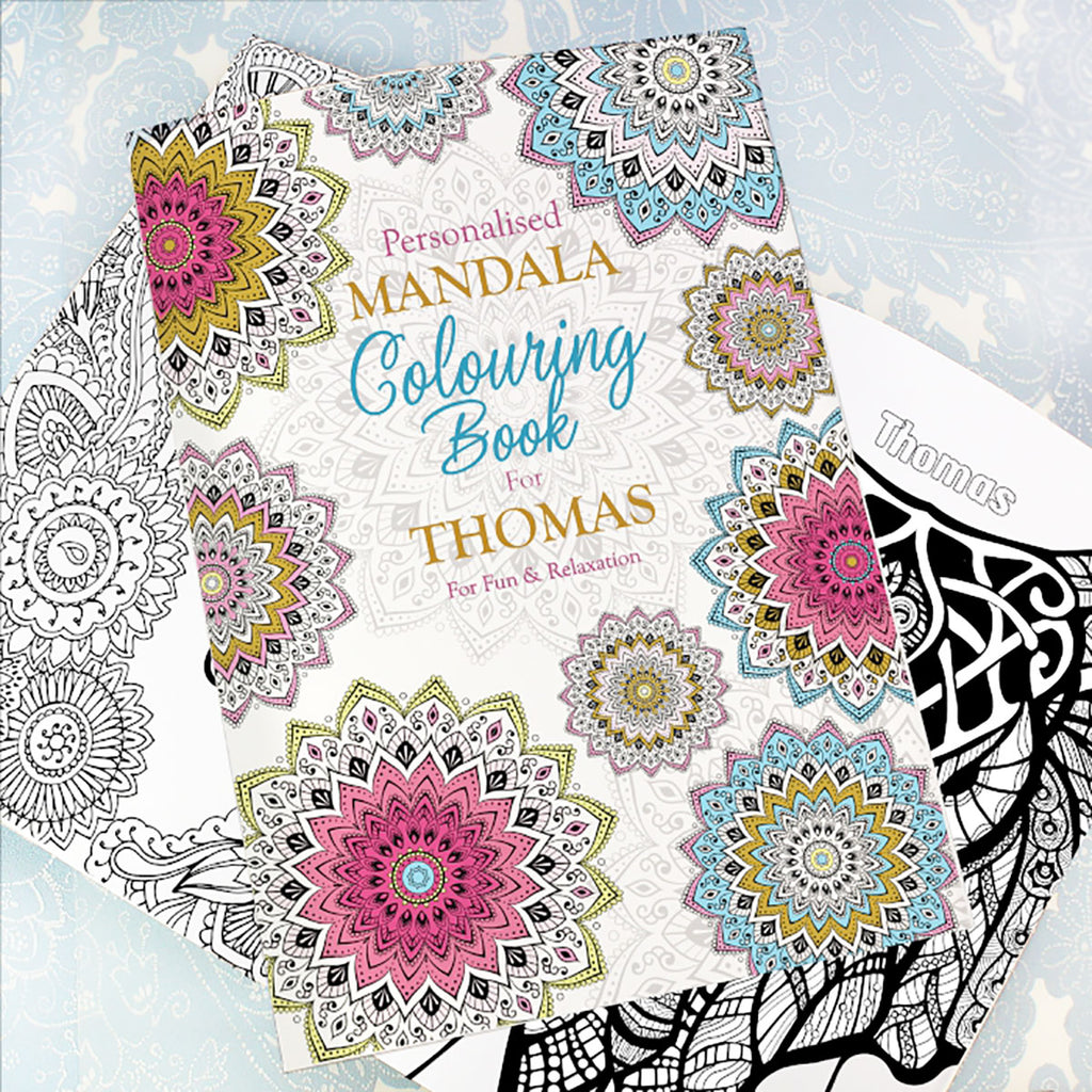 Personalise with your name Mandala Colouring Book - Oh My Gift