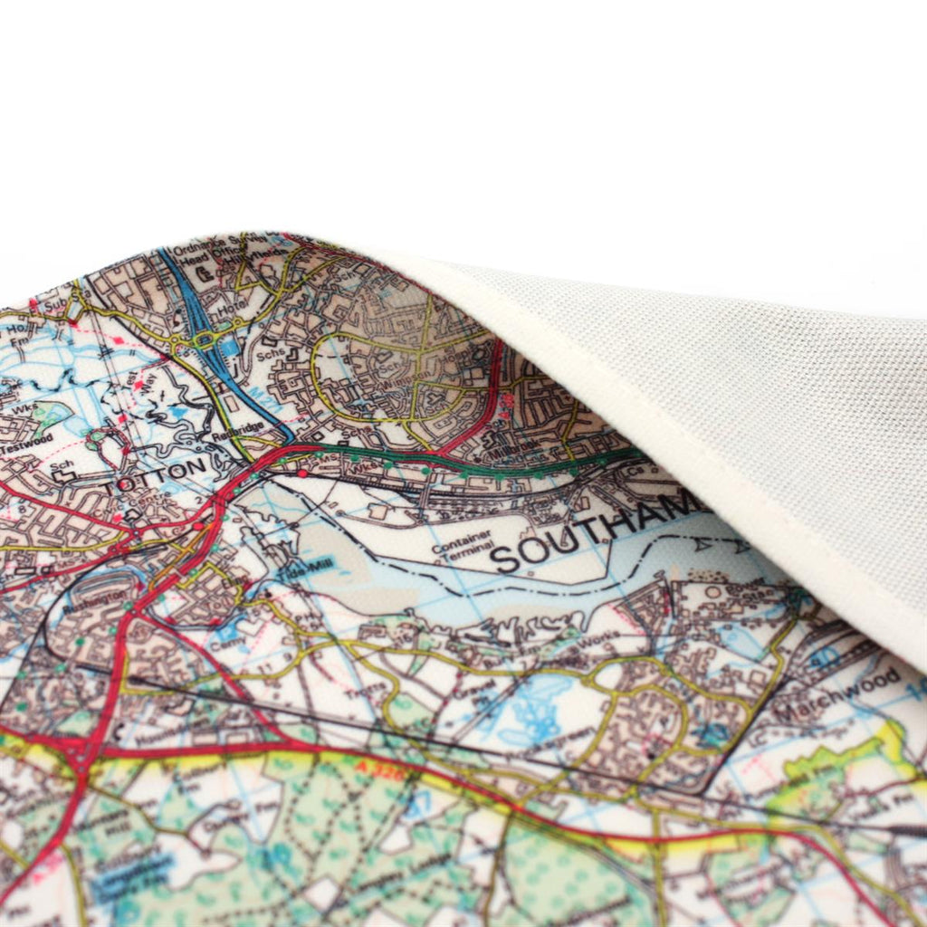 Personalised Map Tea Towel chose any UK location - Oh My Gift