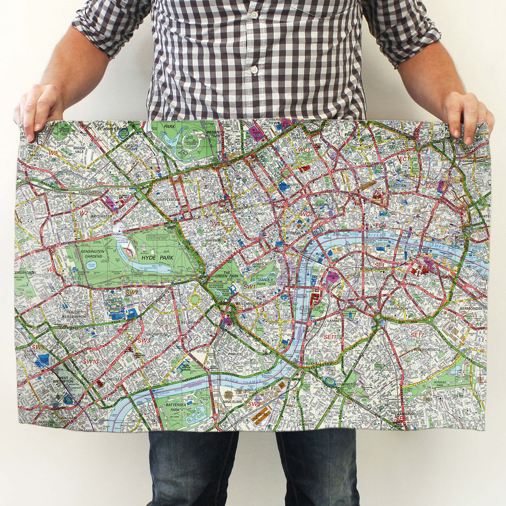 Map Tea Towel based on where you live - Oh My Gift