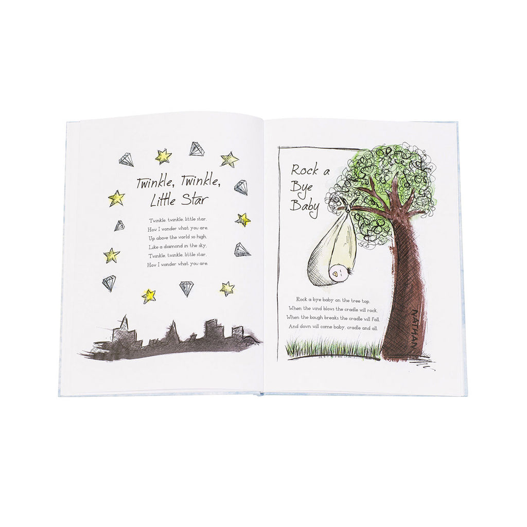 Personalised My Book of Nursery Rhymes Showing Open Page - Oh My Gift