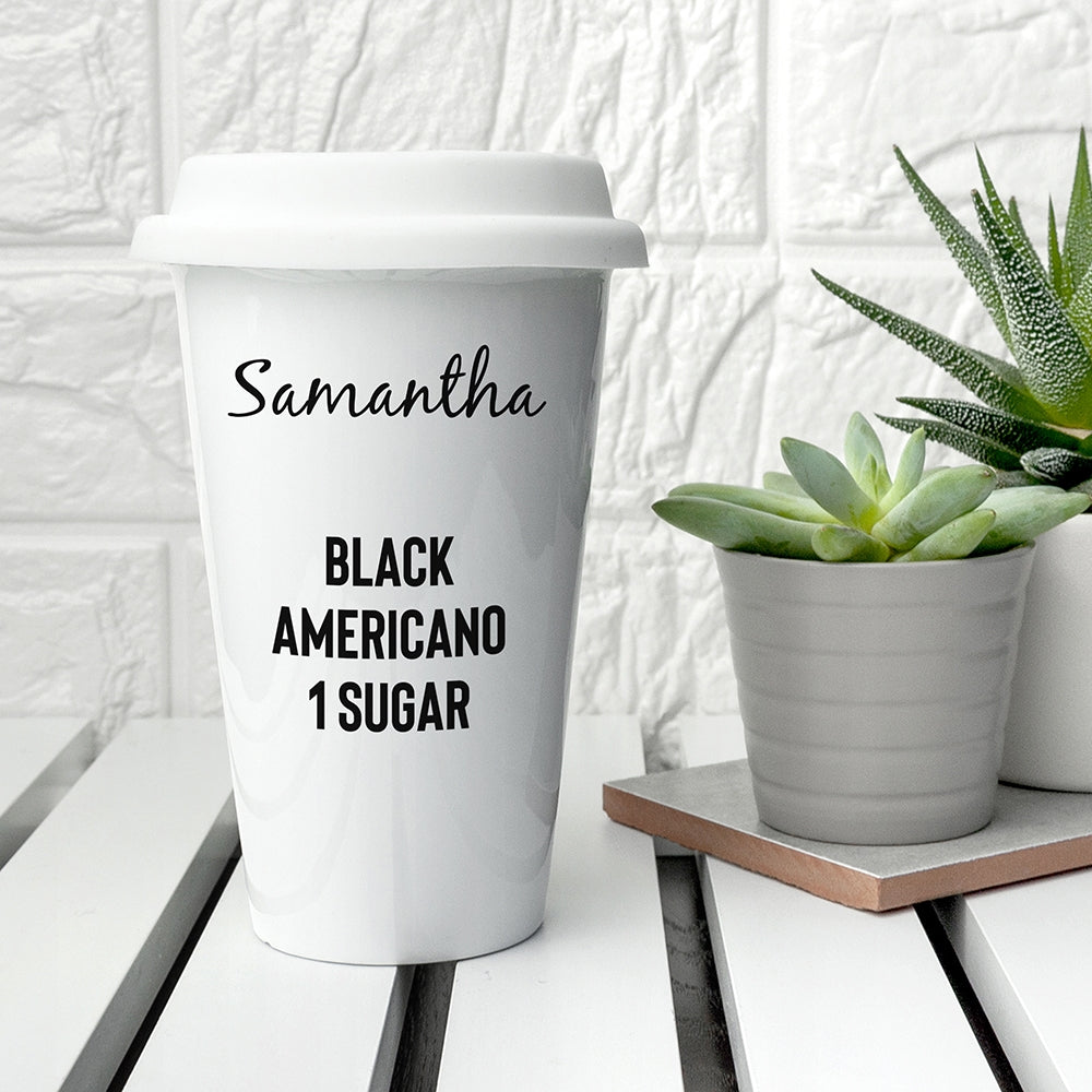 Personalised Name and Order Travel Mug - Oh My Gift