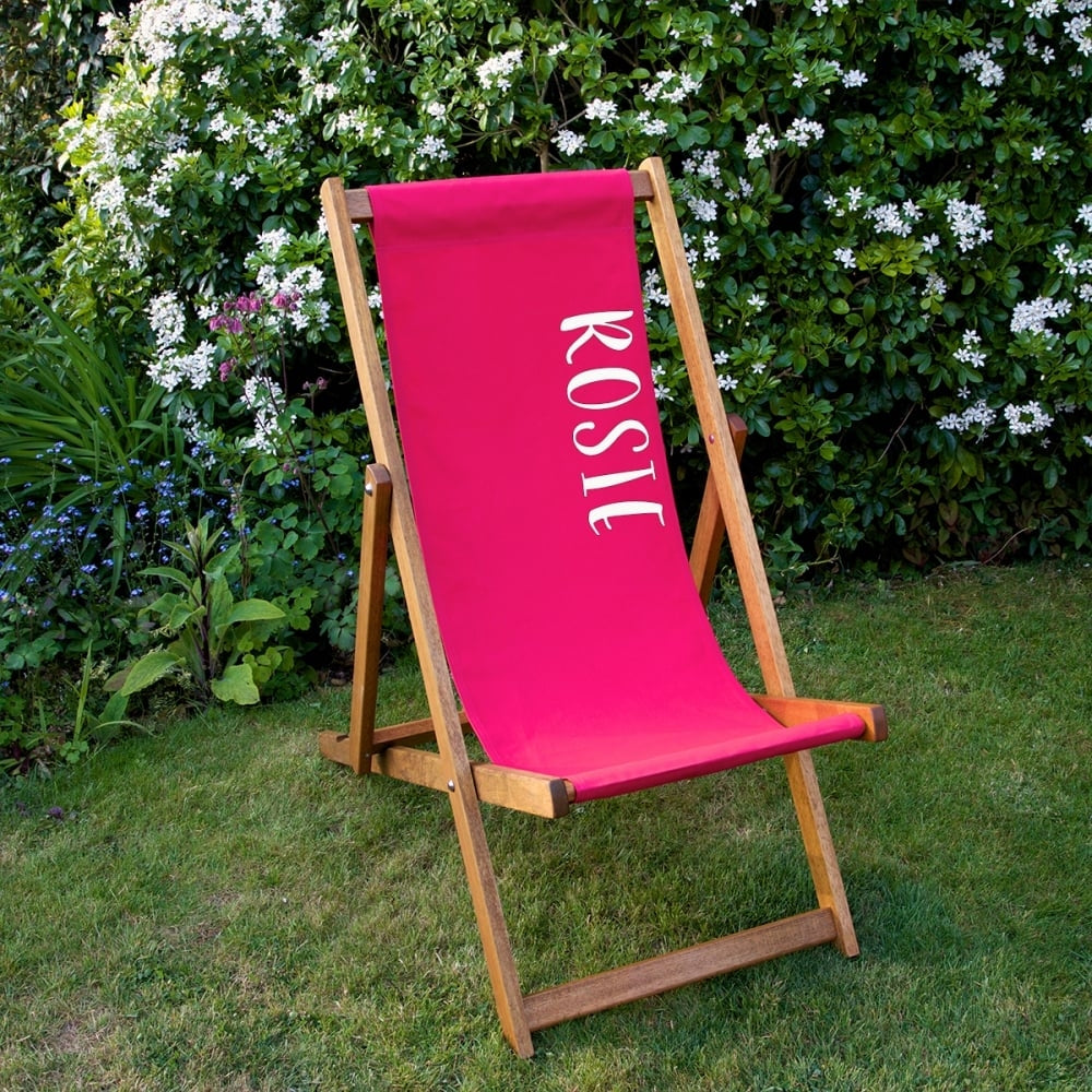 Personalised Deckchair in pink - Oh My Gift
