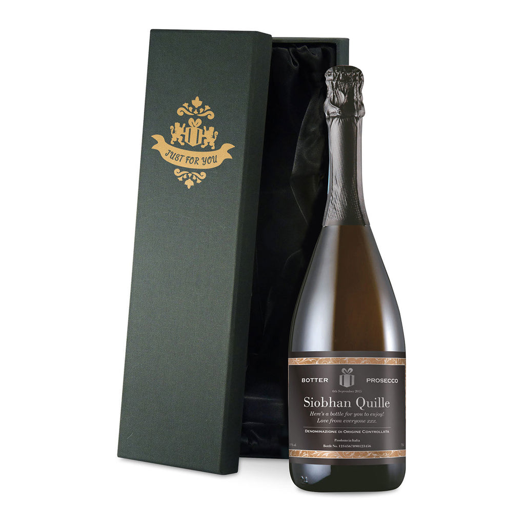 Personalised Prosecco - Oh My Gift - Silk Lined Premium Gift Box