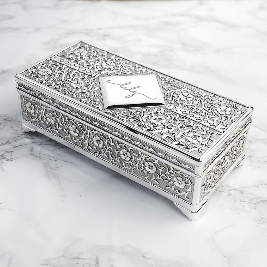 Personalised Silver Trinket Box - Oh My Gift
