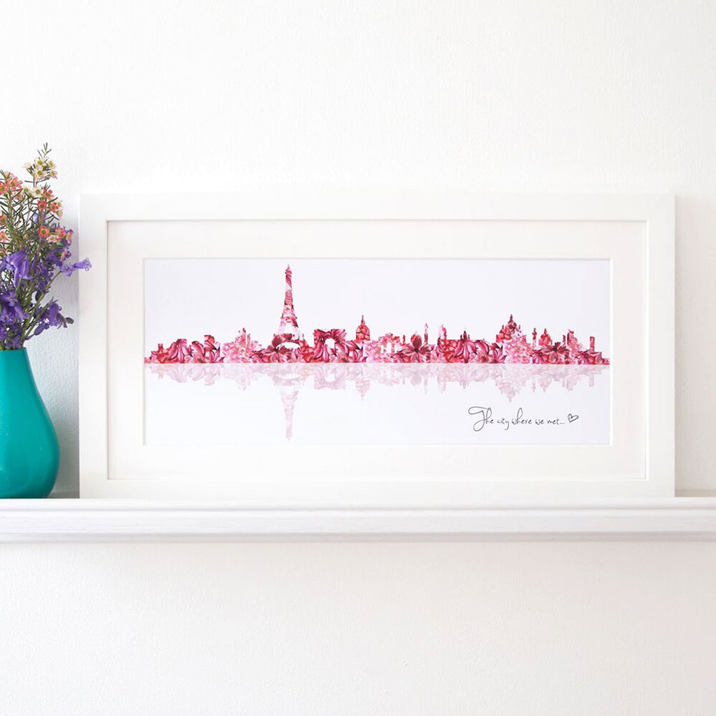 Personalised Skyline Print Paris - Oh My Gift