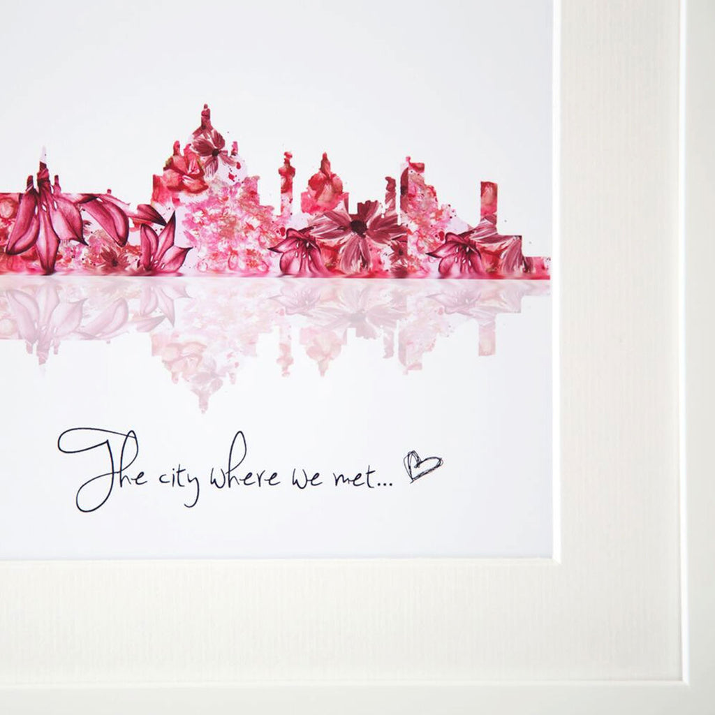 Personalised Skyline Print The City Where We Met - Oh My Gift