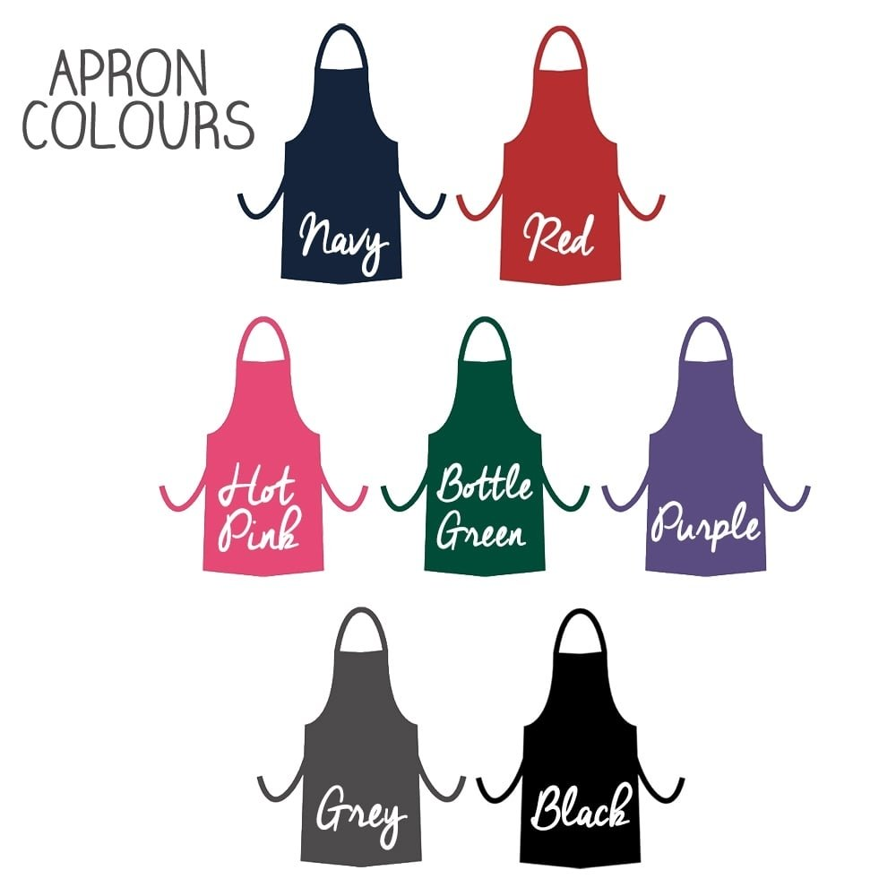 Personalised Teacher's Apron Colour Options - Oh My Gift