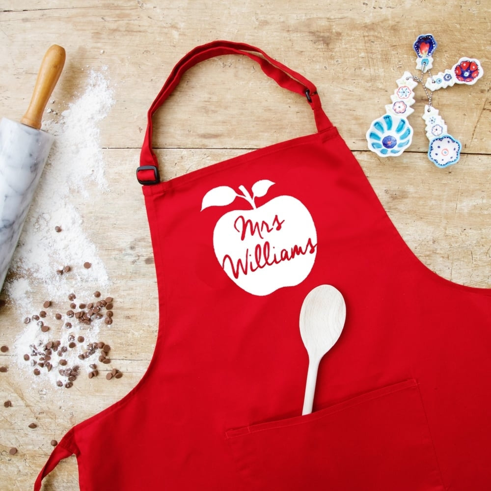 Personalised Teacher's Apron - Oh My Gift