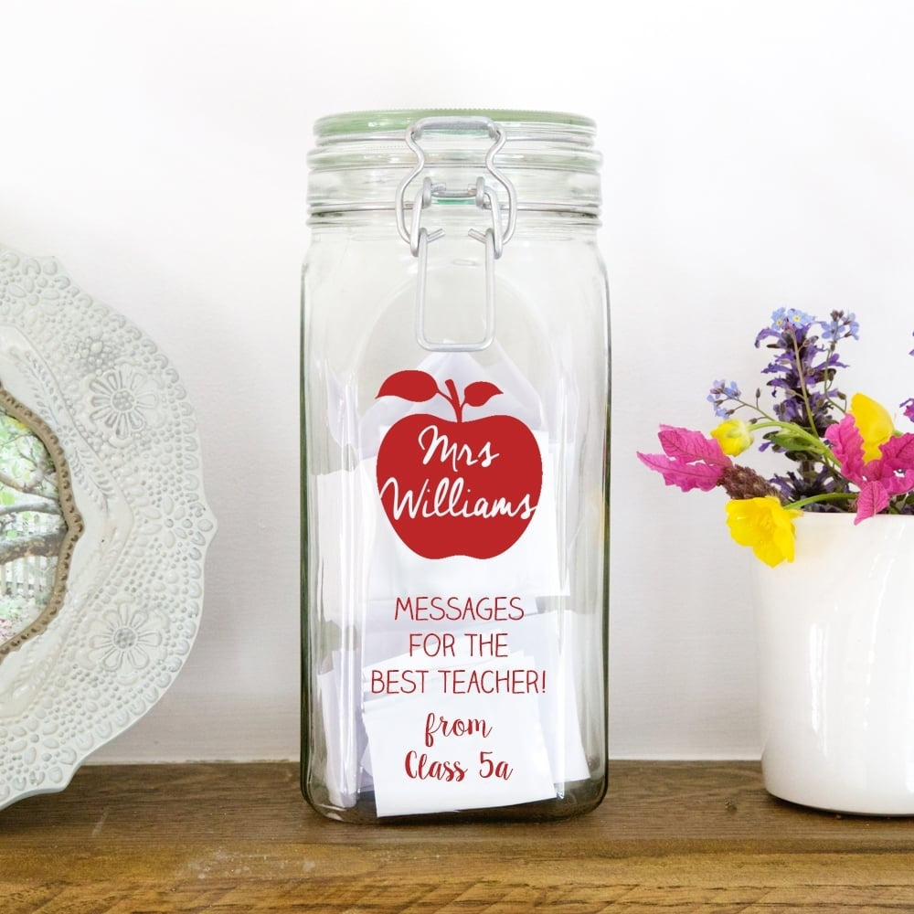 Personalised Teacher's Message Jar - Oh My Gift