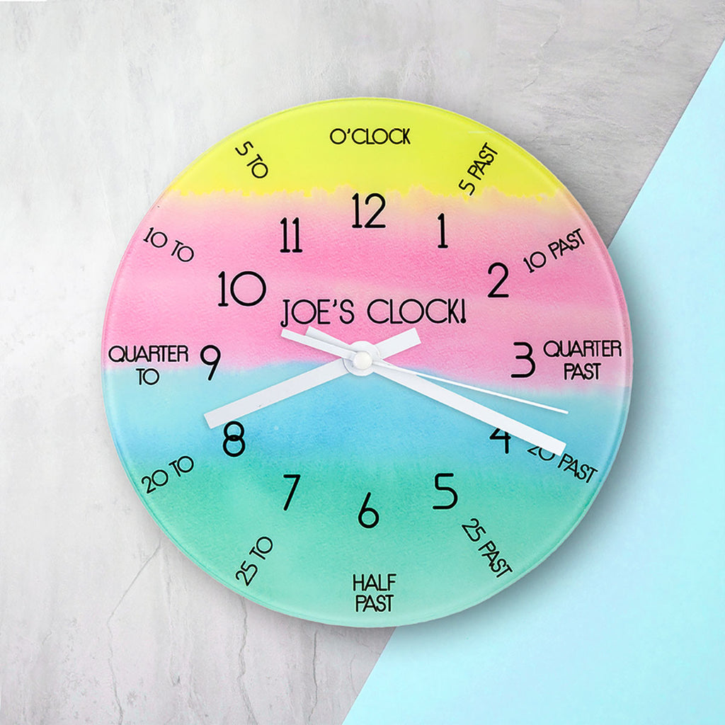 I Can Tell The Time! Personalised Wall Clock - Oh My Gift