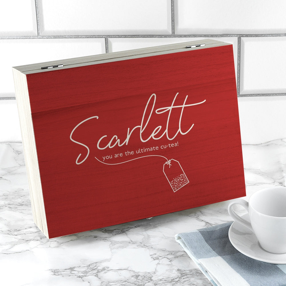 Valentines Tea Box Personalised with name - Oh My Gift