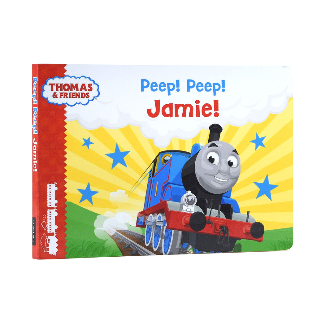 Personalised Thomas & Friends Peep Peep Board Book - Oh My Gift