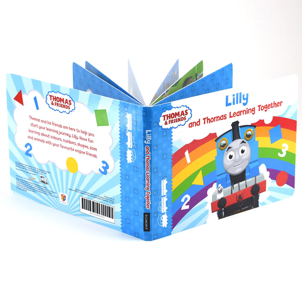 Personalised Thomas & Friends Learning Together Board Book - Oh My Gift - Chunky Board Book Pages