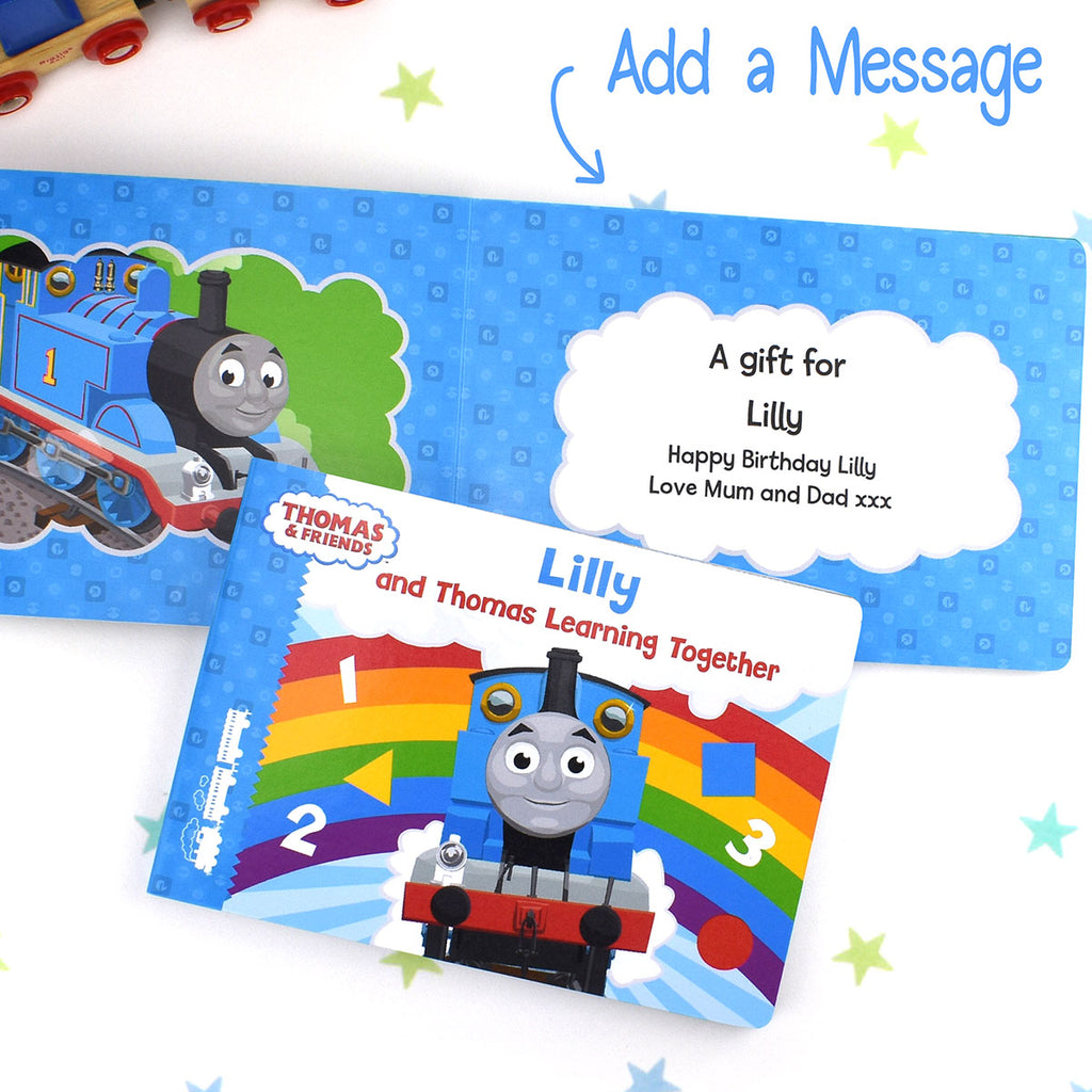 Personalised Thomas & Friends Learning Together Board Book - Oh My Gift - Add any Name & Message