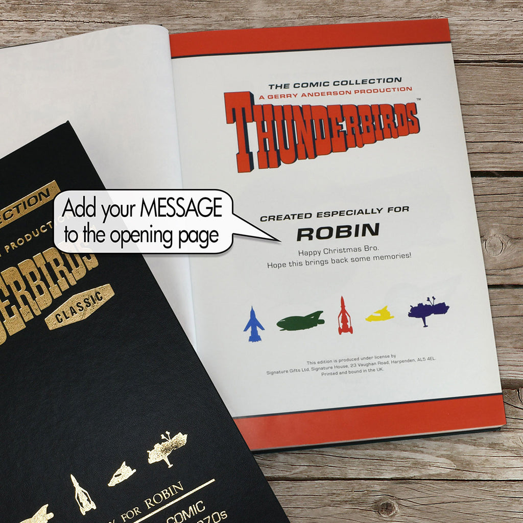 Thunderbirds Collection Book Showing Personalisation - Oh My Gift