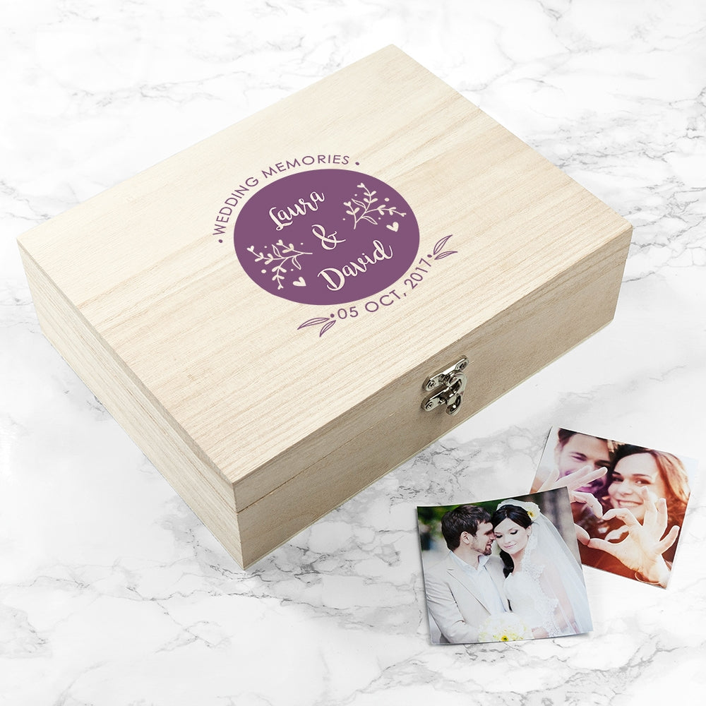 Personalised Wedding Memory Box with Photos - Oh My Gift
