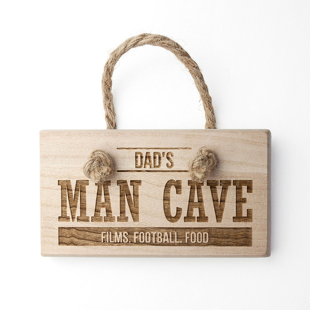 Personalised Man Cave Wooden Sign - Oh My Gift