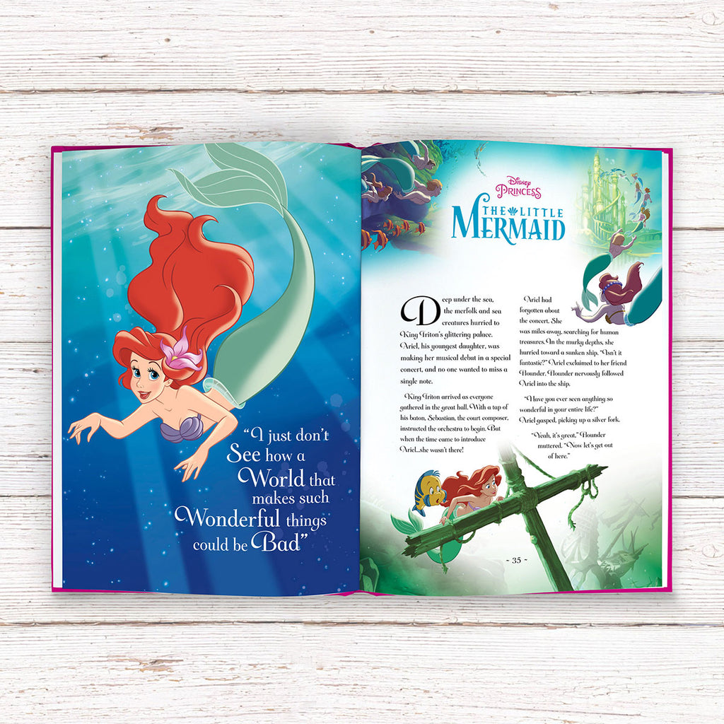 Personalised Disney Princess Ultimate Collection Book showing Open Page - Oh My Gift