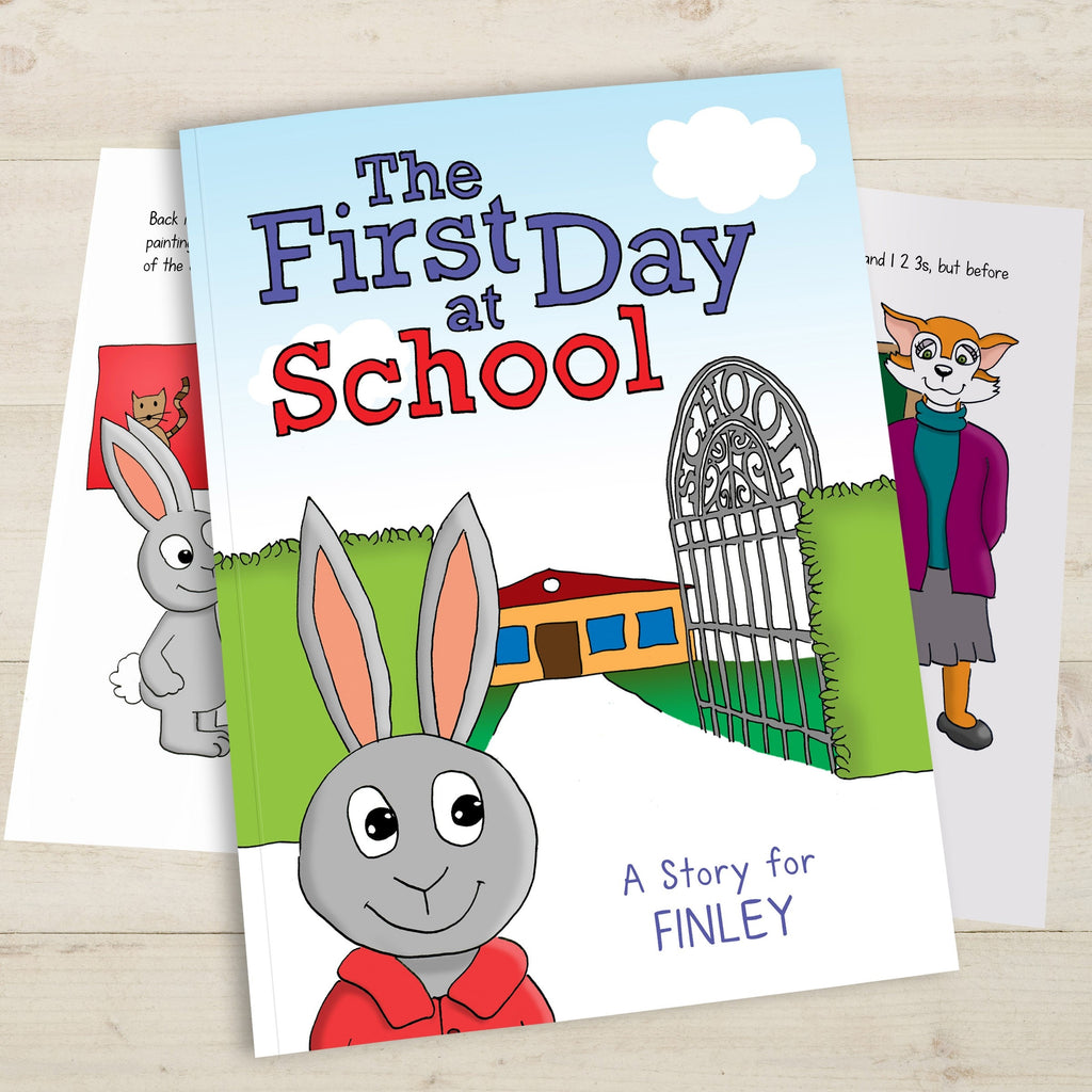 First Day at School Book Open Cover - Oh My Gift