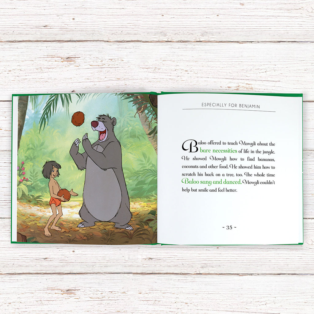 Personalised Disney Jungle Book Story Showing Story - Oh My Gift