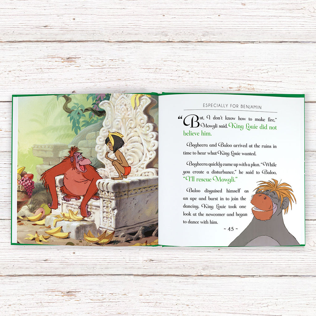 Personalised Disney Jungle Book Story showing inside page - Oh My Gift