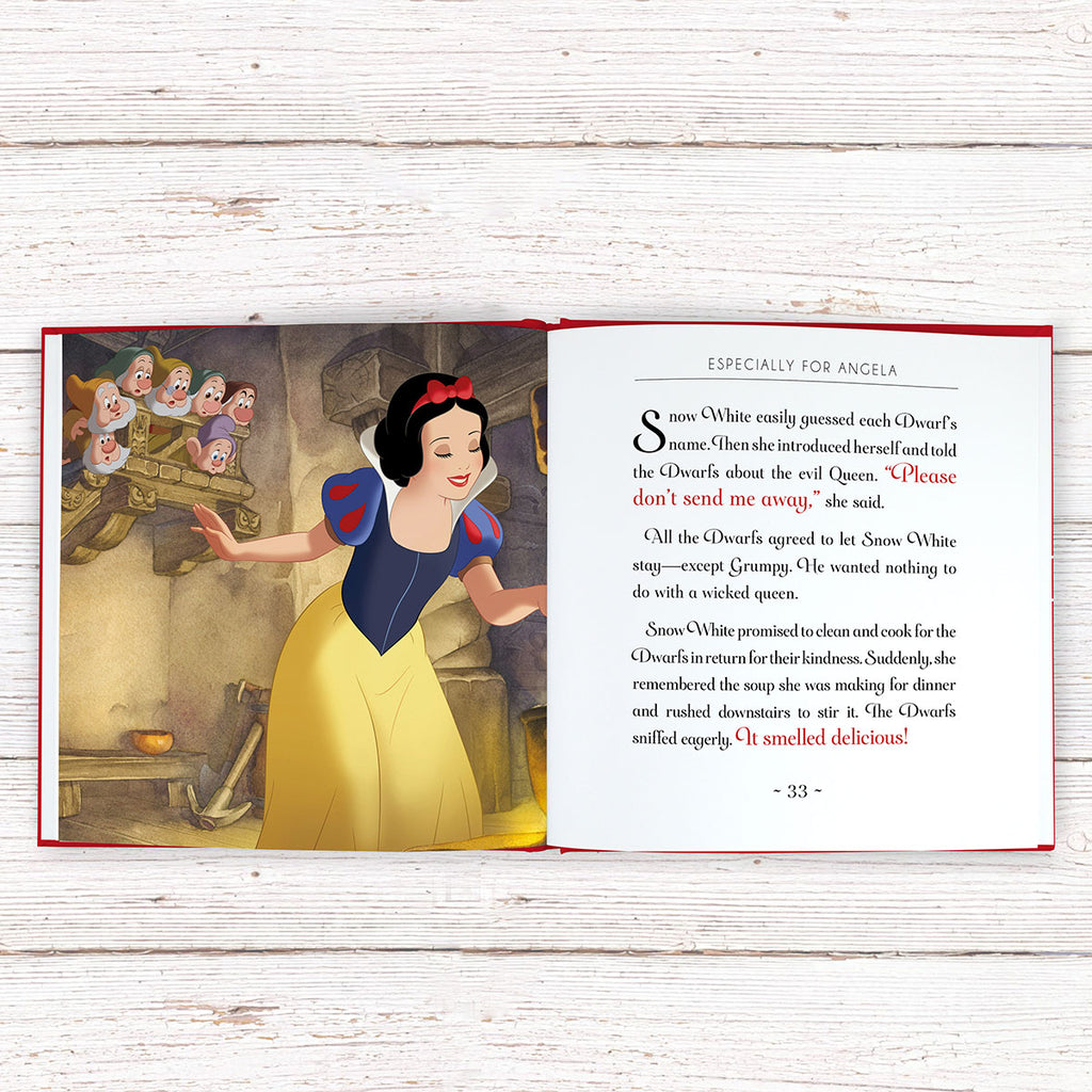 Personalised Disney Snow White Book with Open Page - Oh My Gift