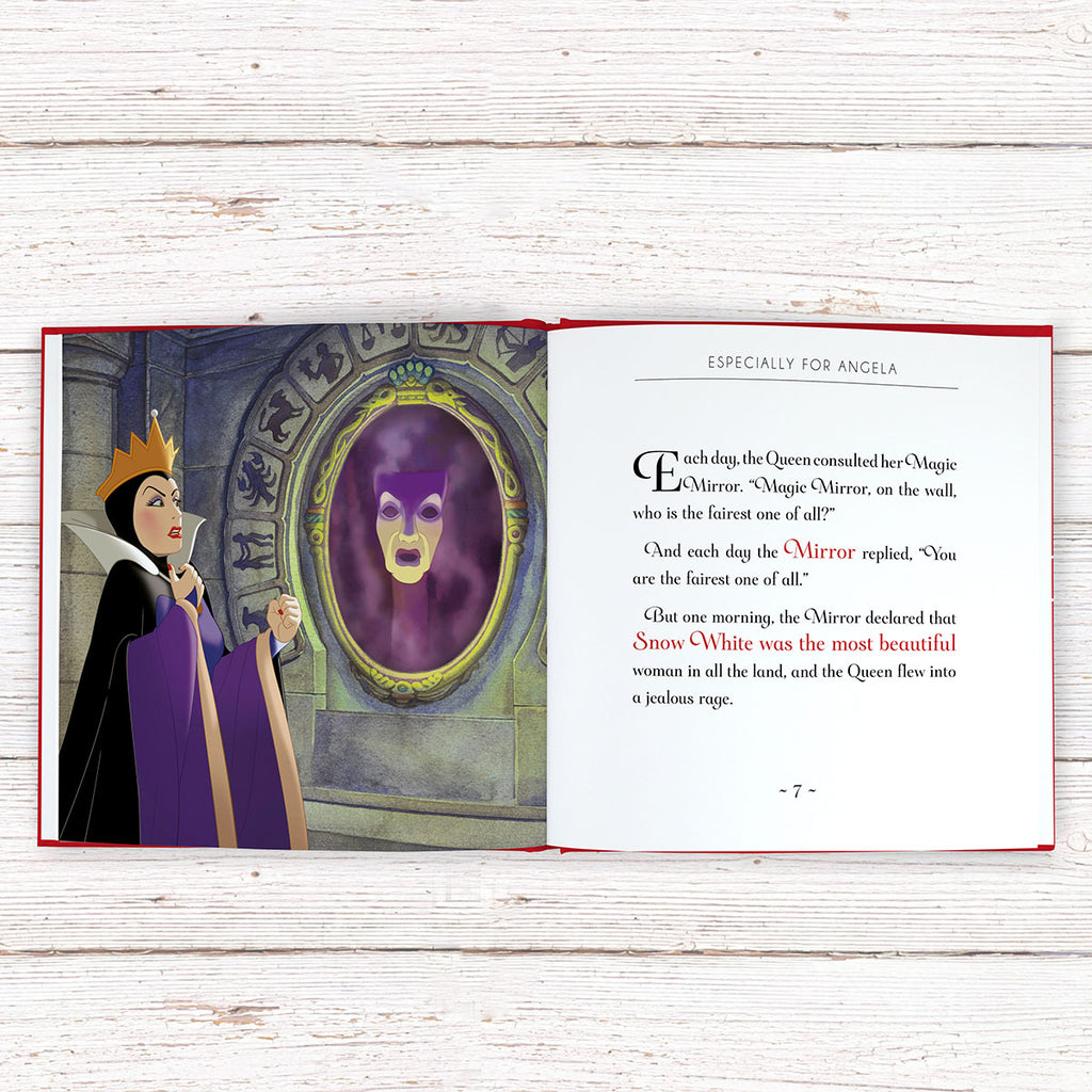 Personalised Disney Snow White Book Showing Inside Page - Oh My Gift